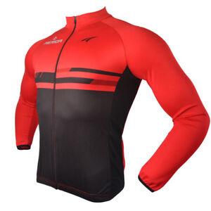 758edb3a9 Image is loading Merida-Black-Red-Biking-Jersey-Long-Sleeve-Reflective-
