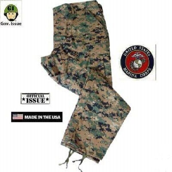 US Marine Corps marpat woodland digital USMC Army Camo Pants XSmall Short