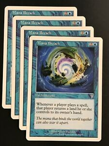 Magic the Gathering MTG Playset 4x Sleight of Hand 7th edition LP 4 Available