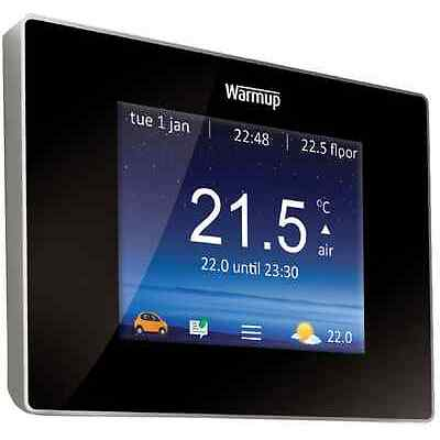 Warmup 4iE Smart WIFI Thermostat Black/Porcelain White stat