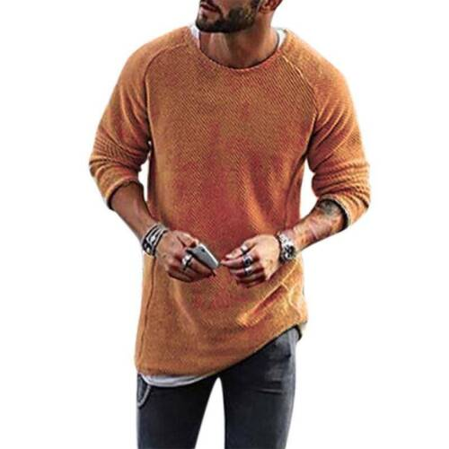 Mens V-Neck Long Sleeve Buttons Knitted Sweater Cardigan Casual Warm Jumper Tops