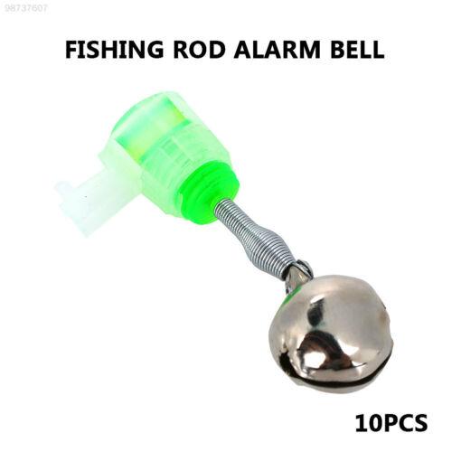 081B Fisch Alarmglocke Angeln Alarm Glocke 10St Grün Angelrute Angelgerät Für