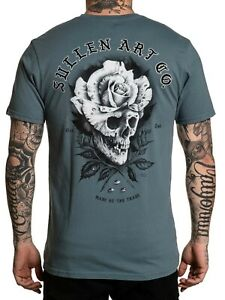 Sullen Men/'s Hieronymus Short Sleeve T-shirt Tattoo Skull and Rose Art Tee