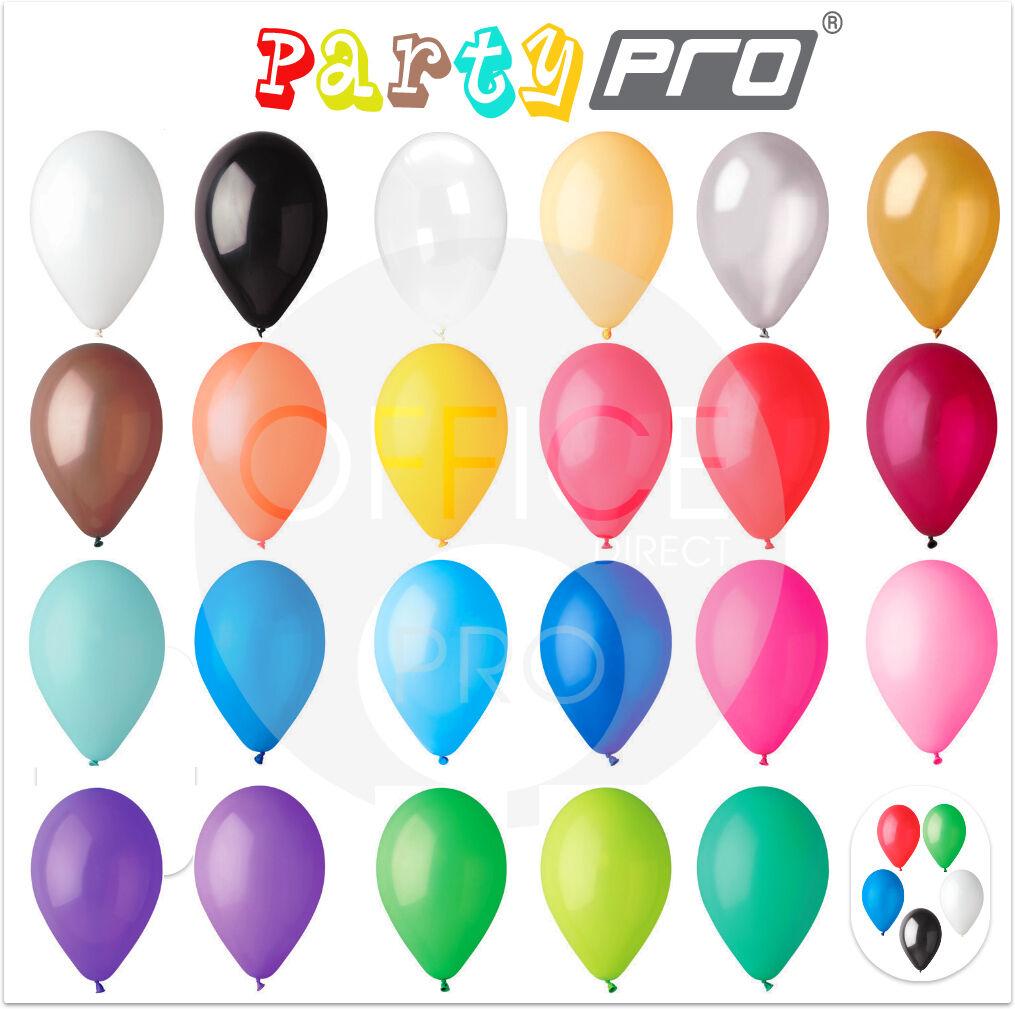 PARTYPRO® - 2000 PACK - 10    12  PREMIUM PASTEL BALLOONS WEDDING BIRTHDAY PARTY