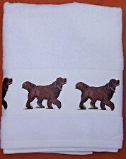NEWFOUNDLAND BLACK DOG LARGE HAND/GUEST TOWEL WATERCOLOUR PRINT SANDRA COEN ART