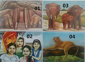 1 X SRI LANKA USED PICTURE POST CARD - World Tourism Day - WITH STAMPS ON IT.