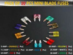 AUDI-Coche-Furgoneta-Mini-Fusibles-Set-Pequena-Hoja-5-7-5-10-15-20-25-30-AMP