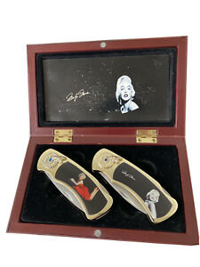 Marilyn Monroe Stainless Steel Collector Pocket Knifes (Box Included)