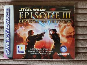 Instruction Book Booklet Nintendo Ds Star Wars Episode Iii Revenge Sith Ebay
