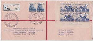 Stamp Australia on cover UPU 1966 C.C.P.S Sydney provisional registration scarce
