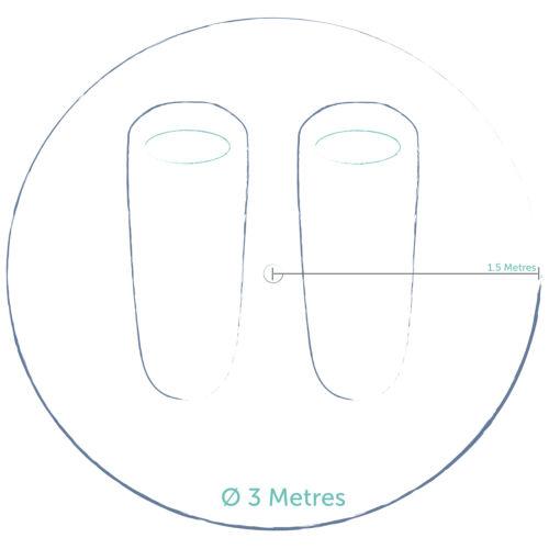 100/% coton toile 3 mètre zig bell tente par bell tente boutique.