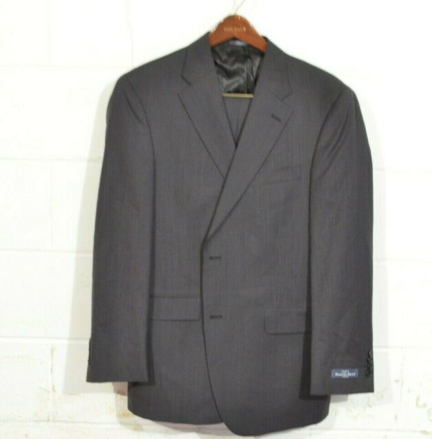 Austin Reed 44r 36 Navy Blue Stripe Fairfield 2 Button Usa Recent Wool Suit For Sale Online Ebay