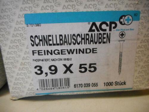 3000 ACP Schnellbauschrauben Feingewinde 3,9 x 55 mm Trockenbauschrauben