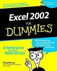 Excel 2002 for Dummies® by Greg Harvey (2001, Paperback)