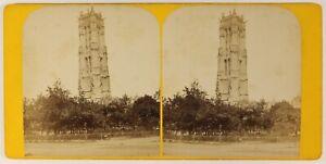 Torre-Smerlata-Parigi-Francia-Foto-Stereo-PL55L4n-Vintage-Albumina-c1880