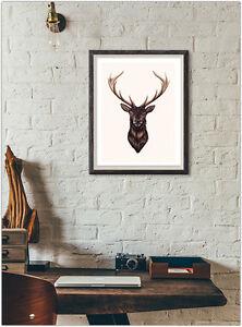 Stag elk mode imprimé affiche accueil mur intérieur photo décoration ...