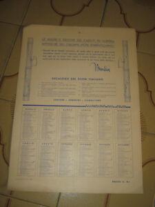 Calendario 1936.Dettagli Su Decalogo Del Buon Italiano Calendario 1936 Mussolini Fascismo Unico
