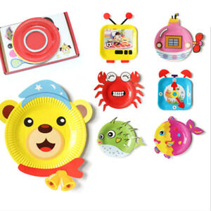 Details About 10x Set Animals Cartoon Paper Plate Crafts Kits Early Learning Educational Toyrd