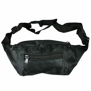 5f604c0cbd21 Details about Travel Bum Bag Fanny Pack Waist Money Belt Zip Pocket Pouch  Wallet Black