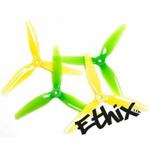 Light Blue 10 Pair HQ Prop DP 5.1x4.1x3 Poly Carbonate-Popo Tri-Blade 3 Blade Propellers Props for FPV Racing