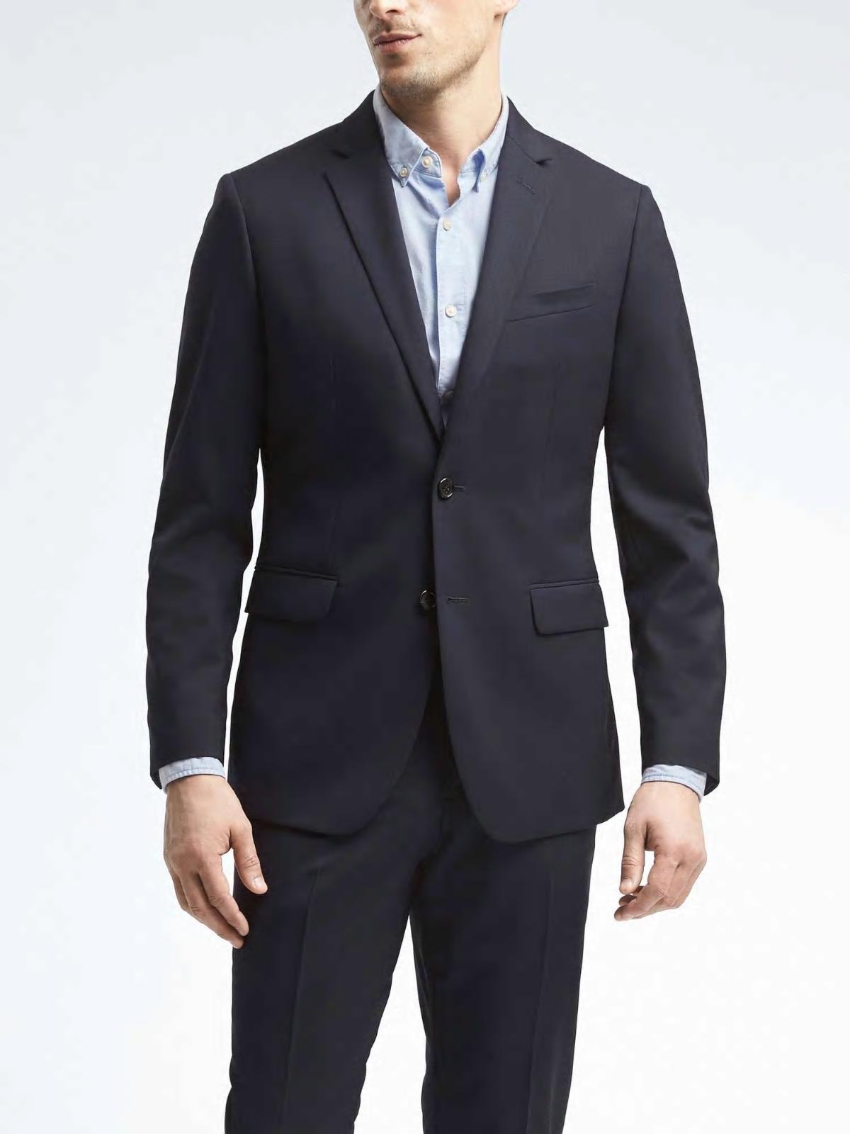 Banana Republic 257819 257819 257819 Fin Italien Wool Suit Veste Blazer 38 40 42 48 6e91b0