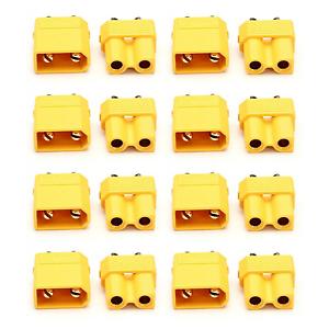 8x Paar 16 Stück XT30 STECKER BUCHSE Goldstecker Lipo Akku RC 30A Gelb XT 30