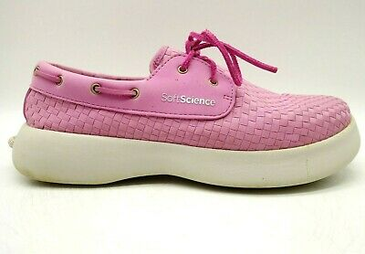 soft science pink woven nylon casual lace up comfort