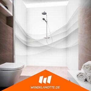 eck duschr ckwand drei platten alu bad dusche wand dynamic bliss white ebay. Black Bedroom Furniture Sets. Home Design Ideas