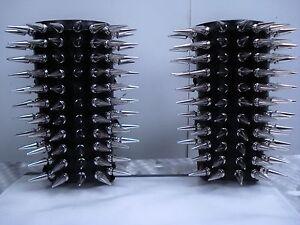 RAGNAROK/'S LEATHER SPIKED GAUNTLETS.BLACK METAL.... .... MDLG0043