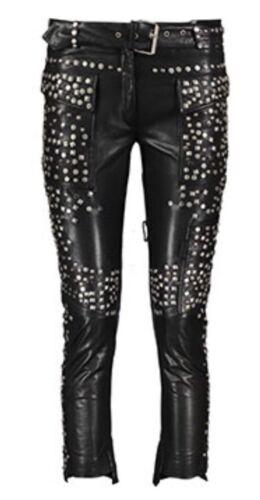 pelle £ Uk 10 Pantalone nera 1600 in Size Joseph borchie con Rrp qnavRt