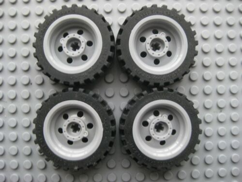 Offset Tread LOT OF 4 Lego 43.2x14 Technic Wheels 56904 // 56898 Gray