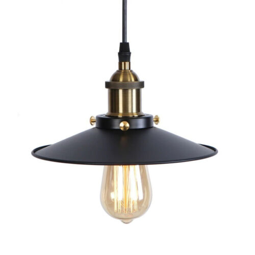 Industrial Retro Suspended Ceiling Light Fitting Metal Shade Vintage Pendant