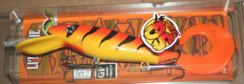 """7/"""" Squirrley Little Ernie Musky Mania Pike Orange Tiger SQLE-24 Drifter Tackle"""