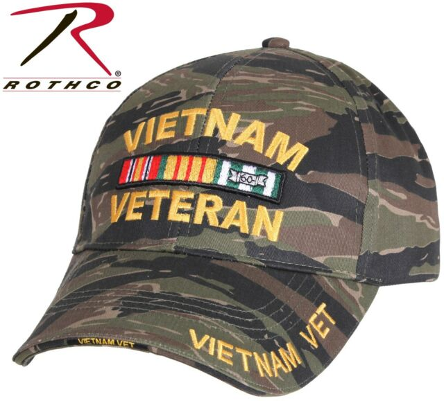 Vietnam Veterans Vet Hat One Size Fits All All Cloth Camouflage New Style NWT