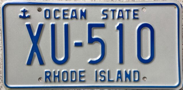 GENUINE American Rhode Island Ocean State Anchor License Number Plate XU 510