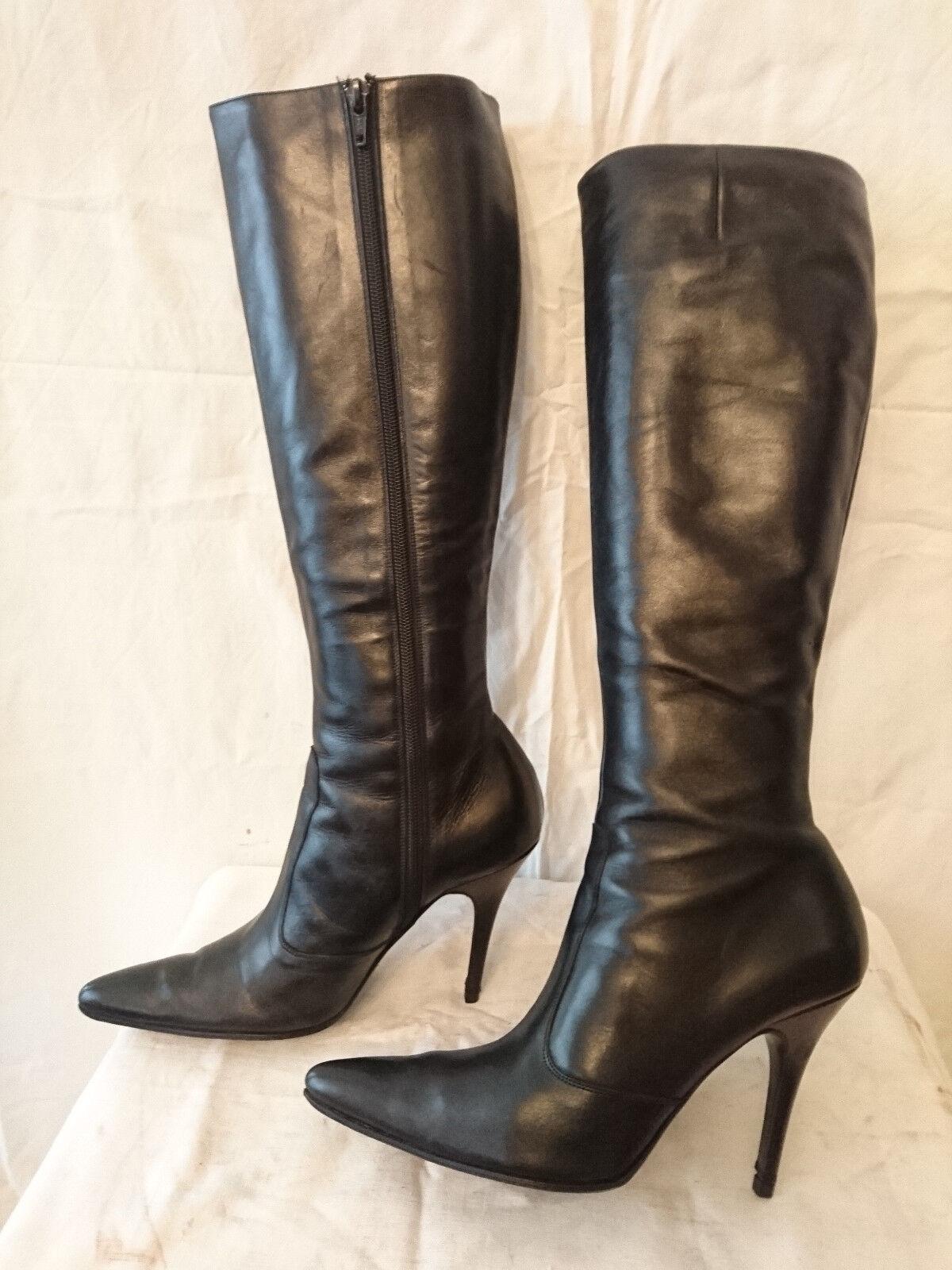 botas años 2000  Negro  - zapatos BIZZ París T. 5,5 - 38,5