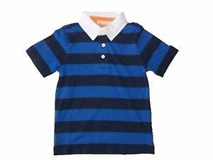 NWT Boy/'s Gymboree navy blue orange royal blue short sleeve shirt ~ 4 5 6 8