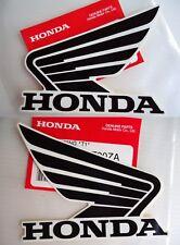 Honda Fairing Decal Sticker SILVER BLACK    280mm x 35mm **GENUINE HONDA**
