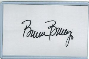 BRUCE BERENYI INDEX CARD SIGNED 1980-86 REDS METS PSA/DNA CERTIFIED