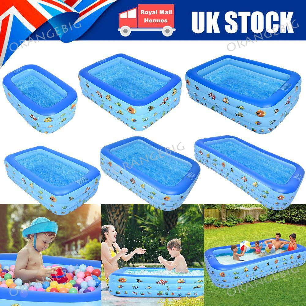 Large Family Swimming Pool Garden Outdoor Inflatable Kids Child Pools 4/5/8/10FT