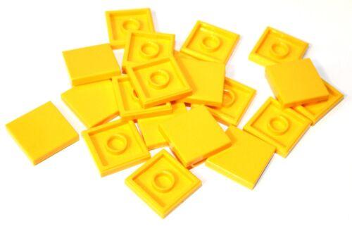 20x LEGO ® piastrella//tessera 2x2 3068 NUOVO GIALLO