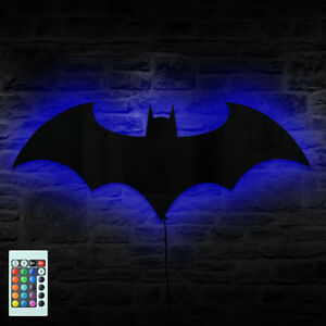 Batman Logo Mirror Wall Light Dark Knight Bat Symbol Logo LED Wall ...