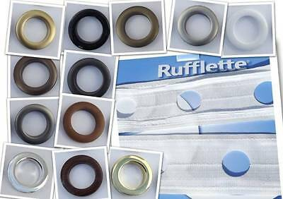 Rufflette Solar Tape & Jupiter Rings. Curtain Heading Eyelet Header Costume Etc