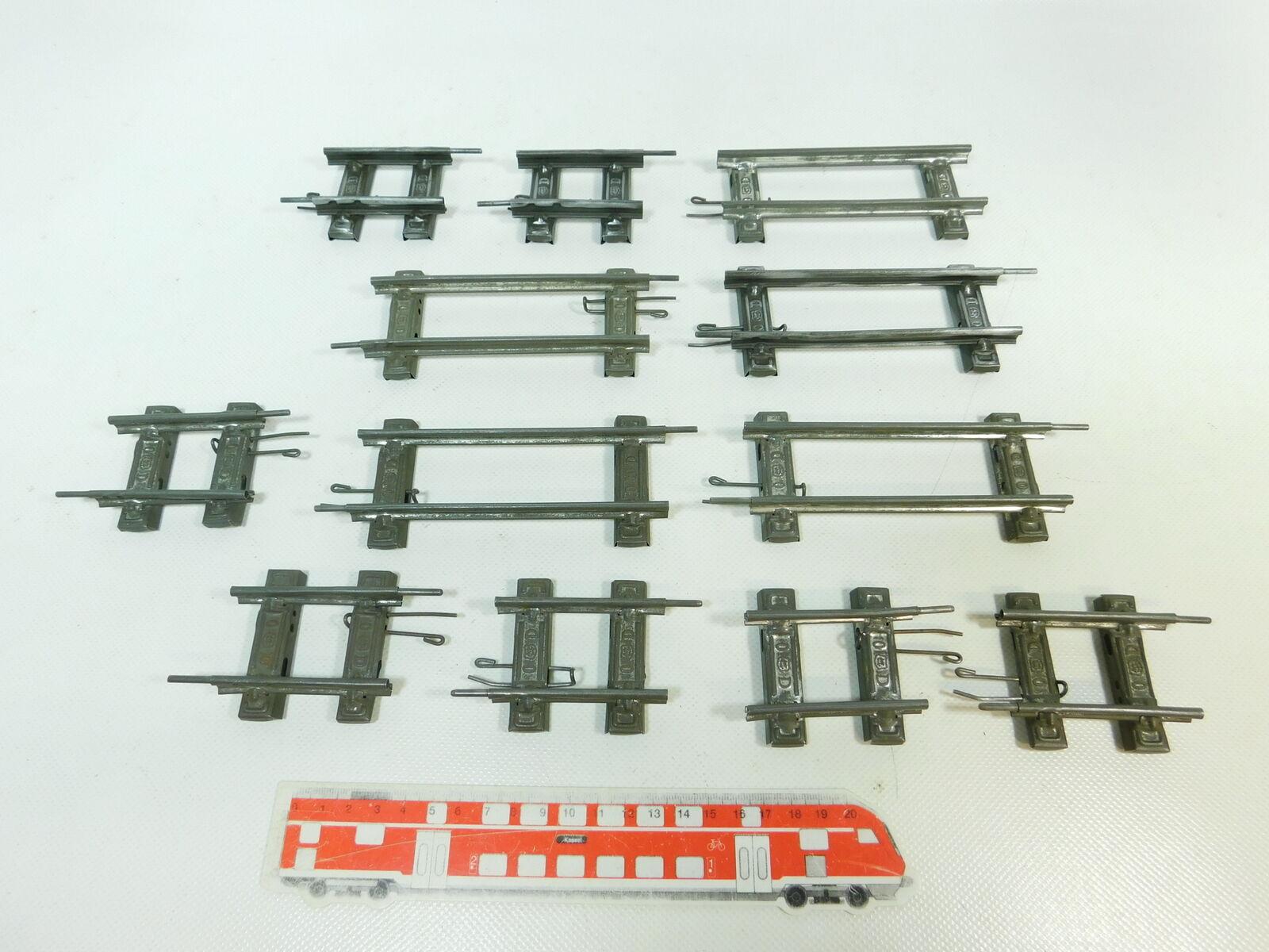 BR852-0,5  12x Märklin Spur 0 Ausgleichsstück Gleis gerade für Uhrwerk-Betrieb