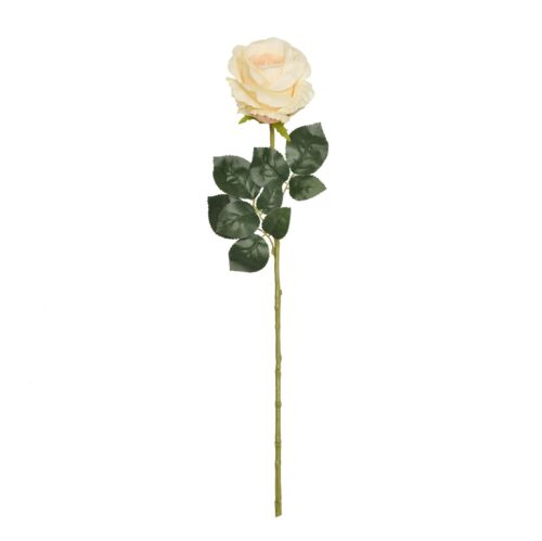 68cm Large Peach /& Cream Artificial Rosebud Stem Wedding Home Flower