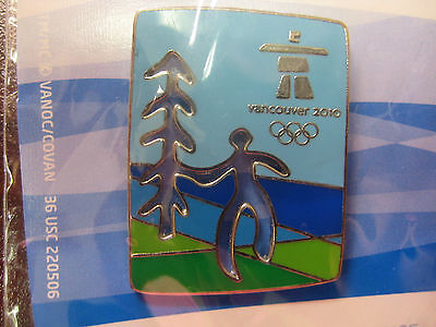 Vancouver 2010 Olympics - Cut Out Tree Pin