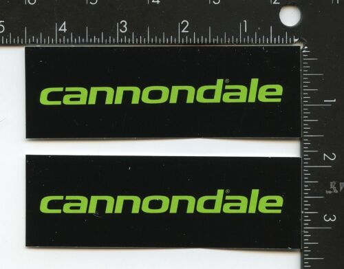 2 Cannondale Stickers, Black and Green, Cannondale Logo Berserker Green
