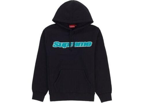 Supreme Chenille Sweat à capuche noir marron M Box Logo Camp Cap S//S 19