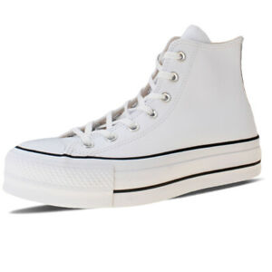 Dettagli su Scarpe Converse Chuck Taylor All Star Lift Leather Hi 561676C Bianco