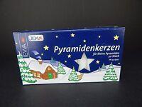 50 German Christmas Pyramid Candles White Ewa Jeka 14mm X 70mm Windmill